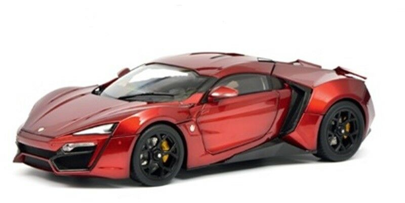 SCHUCO 1 18 AUTO IN METALLO LYKAN HYPER SPORT rouge METALLIZZATO ART  450042500