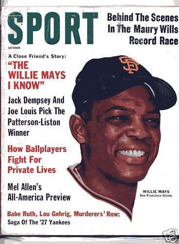 1962 SPORT magazine baseball Willie Mays San Francisco Giants Babe Ruth Gehrig