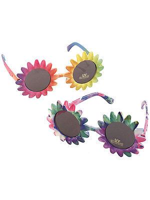 Hippy 60s 70s Flower Power Sunglasses Glasses Specs Fancy Dress Accessory New