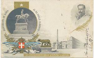 Italie-1898-50-Anniversario-dello-statuto-Roms-Monumento-dans-Roms-Al-RE-Carlo