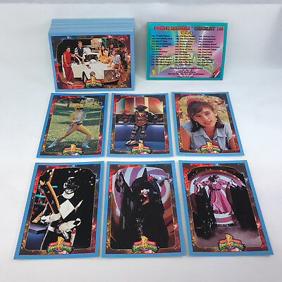 POWER RANGERS Series 2  WAL-MART Edition  Complete Trading Card set Blue