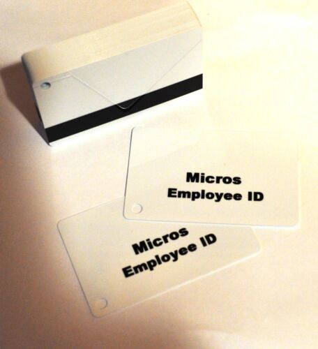 Micros Magnetic Swipe Employee ID Cards (200 Pack) FREE SHIPPING