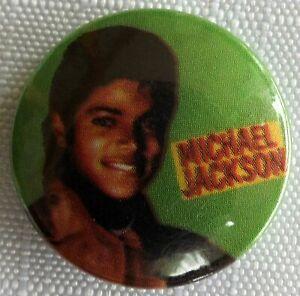 Michael-Jackson-Old-Vintage-1980-S-Boton-Pin-Insignia-25mm-King-Of-Pop