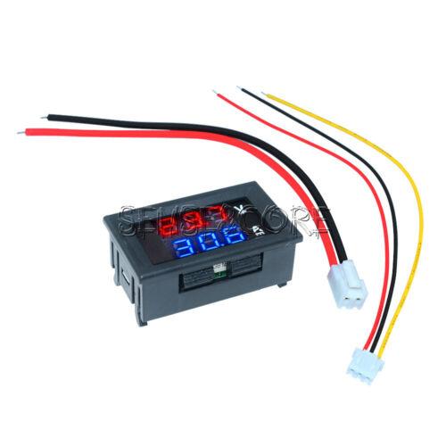 Voltmeter Ammeter Blue/&Red DC100V 10A LED Digital Volt Amp Meter Tester Detector