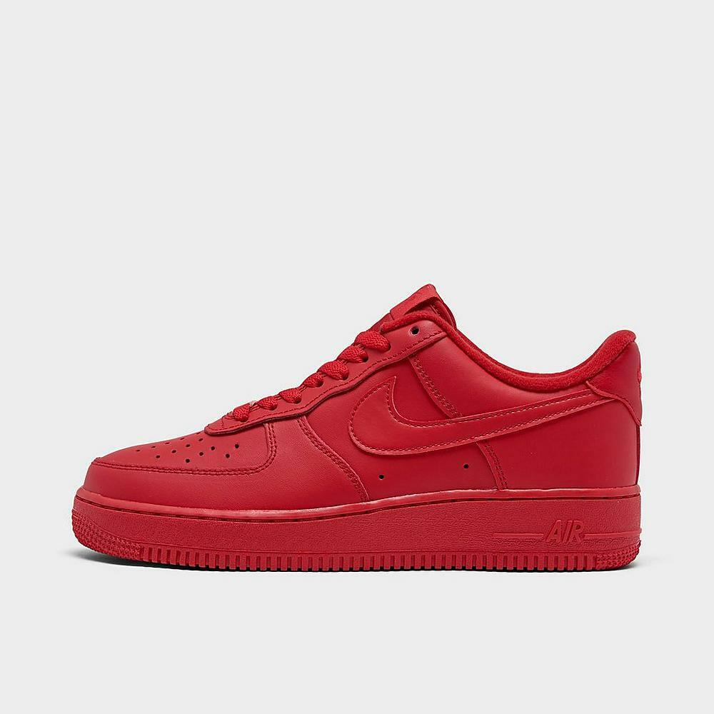 Nike Air Force 1 LV8 Low Triple Red Sneakers CW6999-600 Men's Lifestyle  Shoes