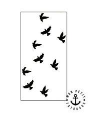 ►► Tatouage Temporaire Ephèmère Vol d'Oiseaux Ink