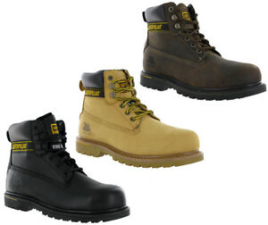 CAT-Caterpillar-Holton-Safety-Leather-Steel-Toe-Cap-Mens-Work-Boots-UK6-15
