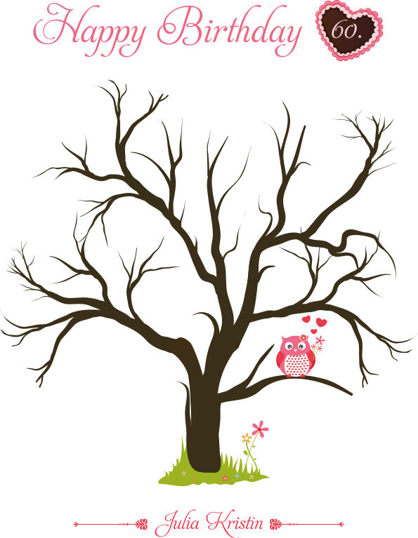 Empreinte toile anniversaire   empreinte arbre   incl. tampons encreurs