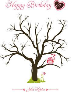 Fingerabdruck Leinwand Geburtstag Fingerabdruck Baum Inkl