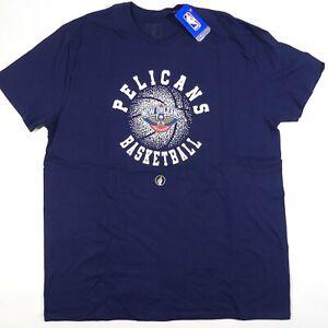 NWT New Orleans Pelicans T-Shirt Adult XXL 2XL Short Sleeve NBA FISLL Men's Blue