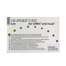 Ivoclar Vivadent IPS E.max CAD Cerec LT A3 / C14 5 Blocks Emax