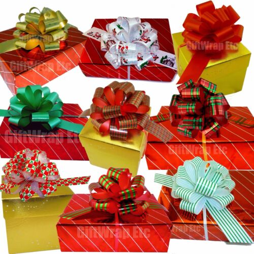 Gift Wrapping Ribbons & Bows Stripes Set of 9 Green Gold Red ...