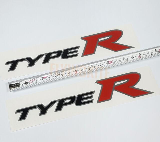 OEM Honda 94-01 Acura Integra DB8 DC2 Rear TYPE R Decal Sticker Silver Outline