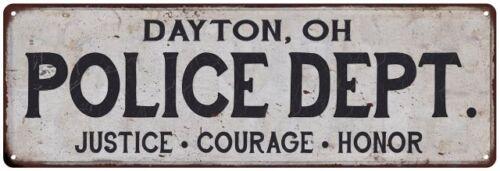 Home Decor Metal Sign Gift 106180012177 OH POLICE DEPT DAYTON
