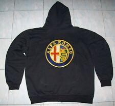 NUOVO ALFA ROMEO FAN con Cappuccio Maglione Hoodie Nero Haagse Jacket JAS Giacca Vest Gilet
