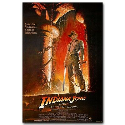 MOVIE POSTER INDIANA JONES and the TEMPLE of DOOM action adventure 24X36 VW0