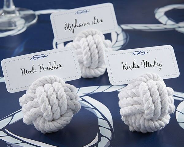 48 Nautical Rope Ocean Theme Wedding Place Card Holders Favors