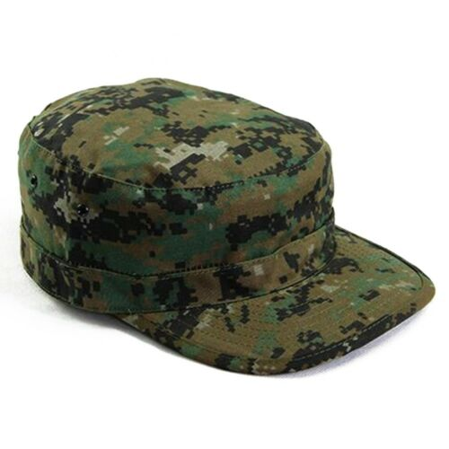Man Camouflage Flat-top Patrol Caps Army Green Military Soldier Visor Hats Ultra