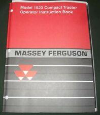 Massey Ferguson 1523 Compact Tractor Operation Amp Maintenance Manual Book