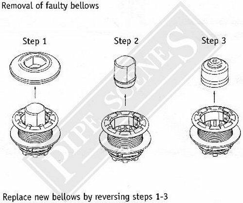 5 X Grohe Spares Spare Button Bellow Service Kit