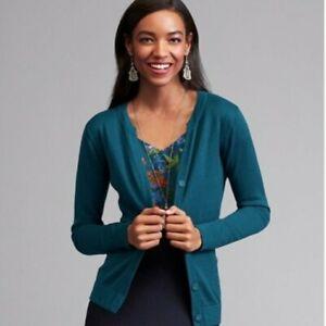 Cabi-Blue-Ever-Cardigan-Sweater-Women-039-s-Sz-M-Style-3368