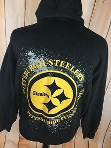 wholesale dealer 60934 cf39d Details about Vintage Pro Line Pittsburgh Steelers Hoodie Sweatshirt Mens  Large RARE
