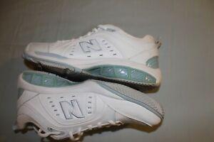 la moitié f7530 648b7 Details about NEW BALANCE 803 White Leather Tennis Shoes Sneakers Women's  Size 10.5