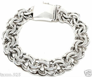 Image Is Loading Taxco Mexican 925 Heavy Sterling Silver Men 039