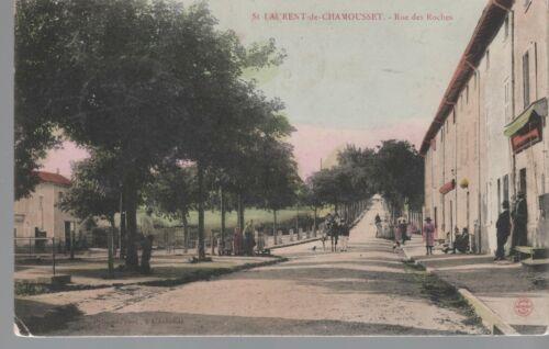 Rue des Roches CPA ST LAURENT DE CHAMOUSSET 69