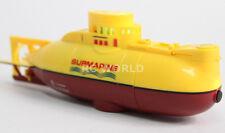 RC Micro SUBMARINE Mini Rc U-Boat 3- Channel Radio Control SUBMARINE -YELLOW-