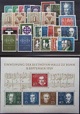 Selbstbewusst, Befangen, Gehemmt, Unsicher, Verlegen Brd Jahrgang 1959 Komplett, Postfrisch Buy One Give One