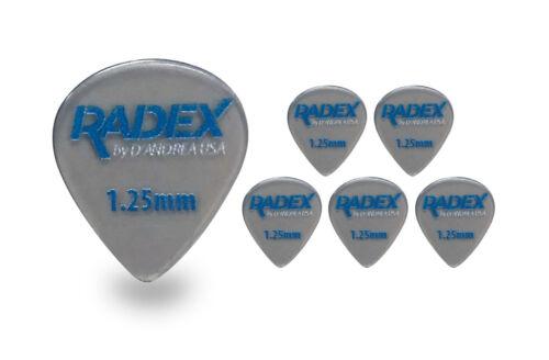D/'Andrea Radex RDX 551 shape 1.25MM Guitar Picks 6 pack 2018 Smoke