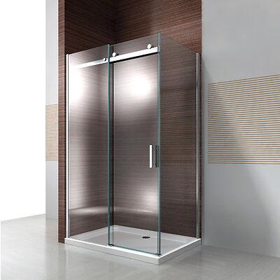 Duschkabine Duschabtrennung Schiebetür NANO ESG- Echtglas Glas 8mm  ESG-GLAS