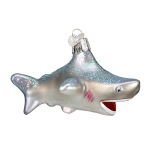 034-Shark-034-12175-X-Old-World-Christmas-Glass-Ornament-w-OWC-Box