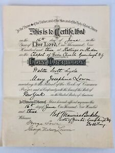 Vintage-Marriage-Certificate-1903-New-York-Westchester-County-Hastings-On-Hudson