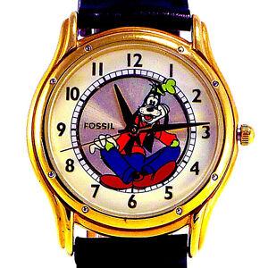 e775c42e1eb9 ... Goofy-Disney-edicion-oficial-Oro-Reloj-Fossil-Raro-
