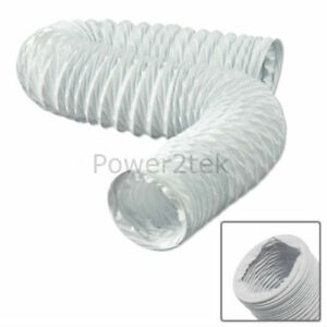 """4"""" X 3m For Brandt 37784 37793 Efu101e Tumble Dryer Invigorating Blood Circulation And Stopping Pains Vent Hose 10cm"""