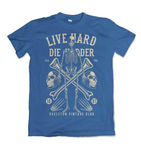 Live Hard Die Harder mens t shirt S-3XL
