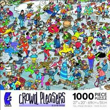 Crowd Pleasers On Thin Ice Skating Jan Van Haasteren Jigsaw Puzzle 1000 pc NIB