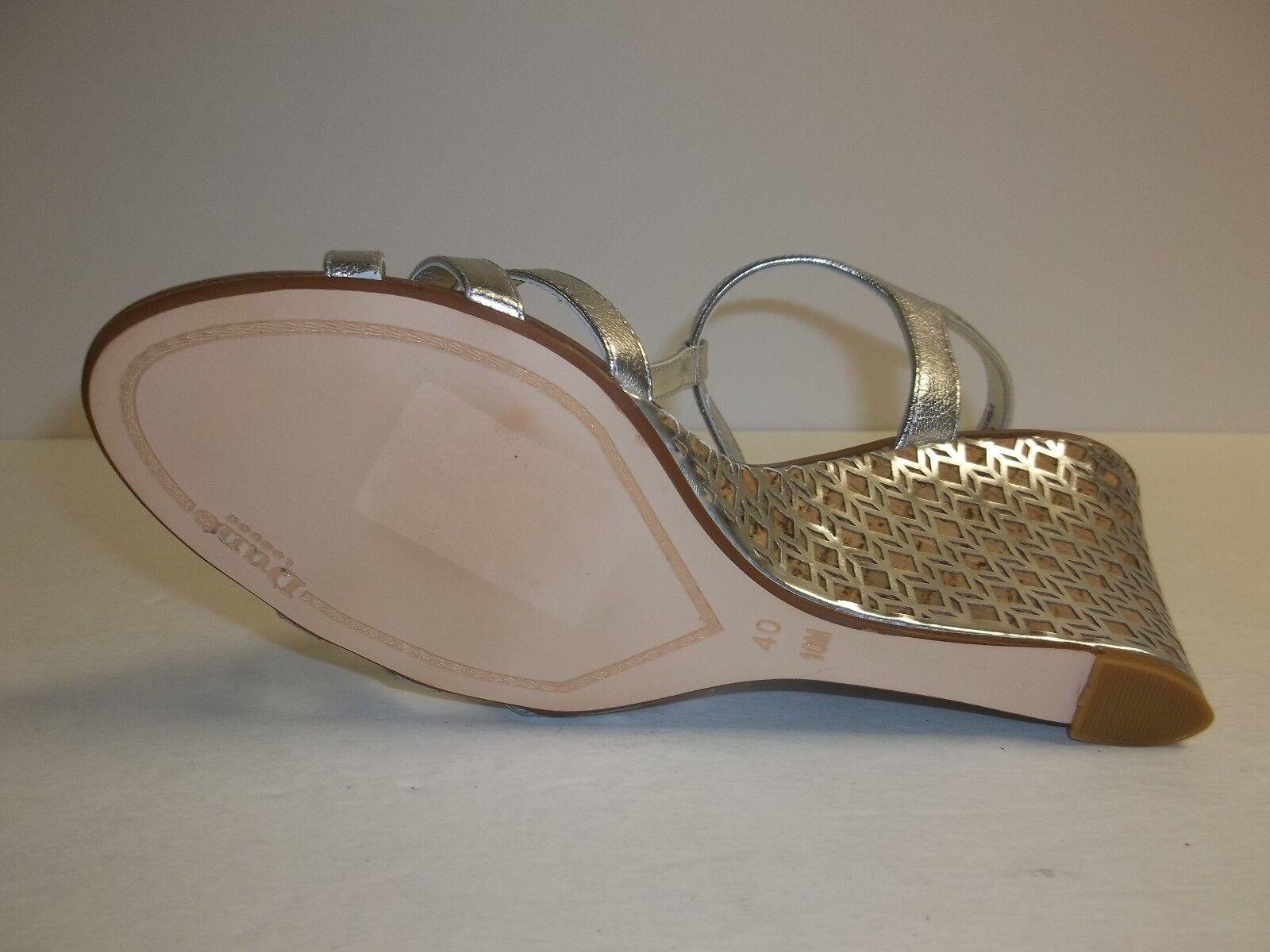 Dune London Größe 10 New M Gately Silver Leder Laser Wedge Sandales New 10 Damenschuhe Schuhes ae78c2