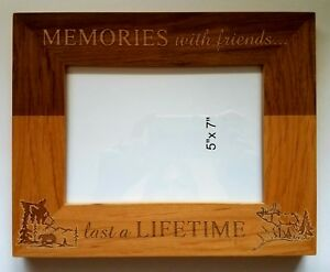Memories-with-Friends-Last-a-Lifetime-5x7-picture-frame-Gift-Bear-Elk-Country