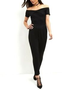 968fd2ce48 SEXY LADIES NEW LOOK CAMEO ROSE BLACK BANDEAU JUMPSUIT SIZE 12 NEW ...