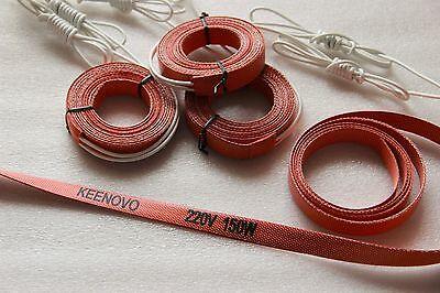 15 X 2000mm,150W 220V KEENOVO Silicone Heater Strip, Pipe/Tube Heating Belt