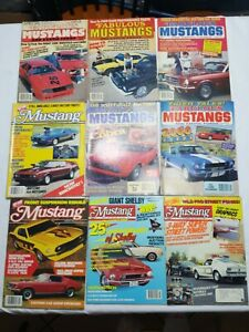 Fabulous-Mustangs-amp-Exotic-Fords-amp-Hot-Rod-Mustang-Lot-of-9-Magazines-1984-1990