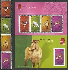 China Hong Kong 2003 China New Year of Ram stamp set Zodiac