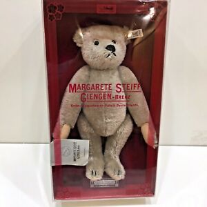 Steiff-MOHAIR-BEAR-1983-Limited-Edition-Gray-Model-0150-32-Growls-when-Moved