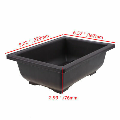 Rectangle Nursery Planter Balcony Succulent Basin Bonsai Plant Bowl Flower Pot