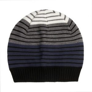 eacbd8e626c Image is loading Boys-Striped-Beanie-Hat-Warm-Soft-Cable-Knit-