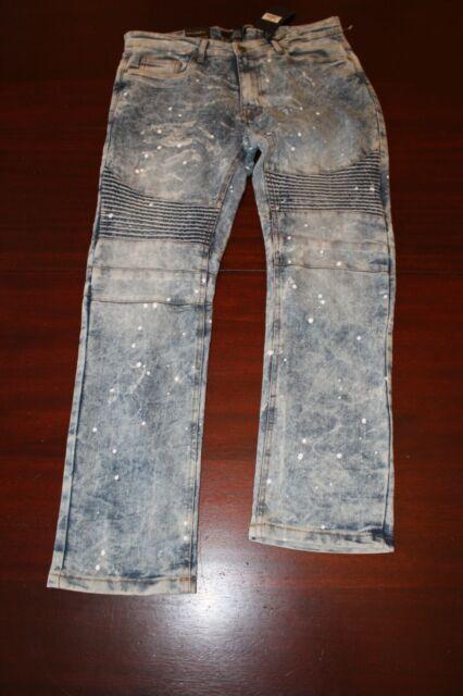 Steve's Jeans Stretch SKINNY Fit Jersey Blue Mens Size 34x32