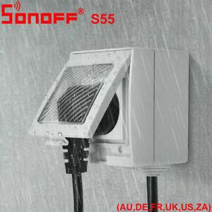 Sonoff-S55-Smart-Switch-Power-Outlet-Waterproof-Socket-Alexa-Google-Home-Outdoor